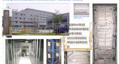 """Sanierung Datennetz  Standort DLR Berlin - """" Fibre to the Desk"""""""
